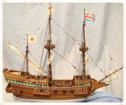 scale model of an spanish galon merchant sailing ship