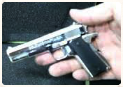 scale model .45 caliber handgun