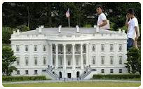 scale model replica of the United States White House
