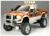 Image of a remote-controlled scale model 18-wheeler truck
