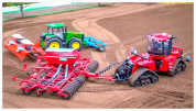 Image of a remote-controlled scale model farm tractor