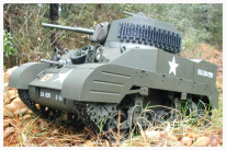 Image of a remote-controlled scale model tank