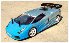 Image of a remote-controlled scale model police car